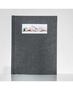 Silverbook 22,5x30cm mit Querformat Fenster