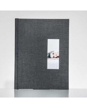 Silverbook 22,5x30cm mit Hochformat Fenster