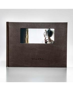 Silverbook 40x30cm mit Querformat Fenster